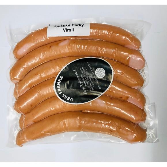 Veal Franks Spišské Párky / Virsli MIld Approx 1.7 lbs