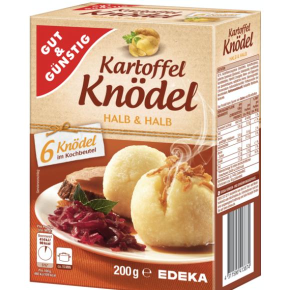 Potato Dumpling Half & Half, Kartoffel Knodel Halb & Halb 200g