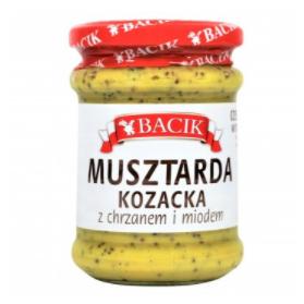 Cossack Mustard Sauce with Horseradish and Honey, Musztarda Kozacka z Chrzanem i Miodem 240g Bacik