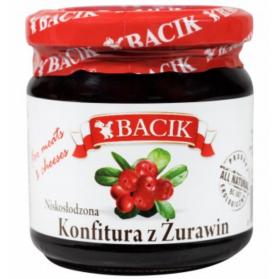 Cranberry Low Sugar Spread, Konfitura z Zurawin 220g Bacik