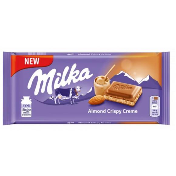 Milka Almond Crispy Creme 3.17oz/90g