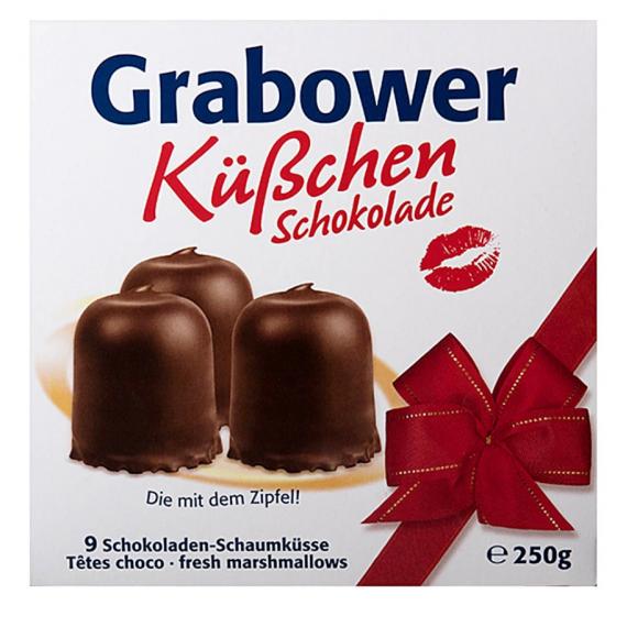 Grabower Fresh Marshmallows, Kubchen Schokolade 250g