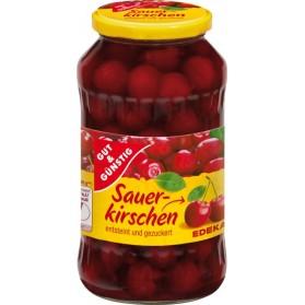 Pitted Sour Cherries, Sauer Kirschen Gut and Gunstig 720 mL