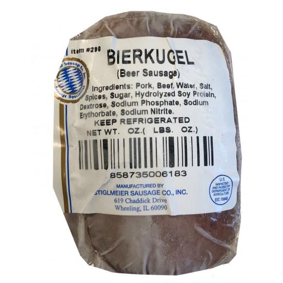 Beer Sausage,Bierkugel Stiglmeier Approx 1lbs