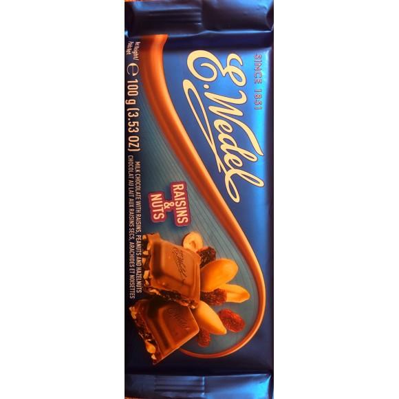 E. Wedel Milk Chocolate with Raisins, Peanuts, and Hazelnuts 100g