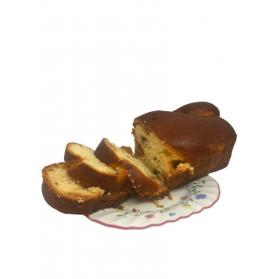 Romanian Cozonac bread with Turkish Delight