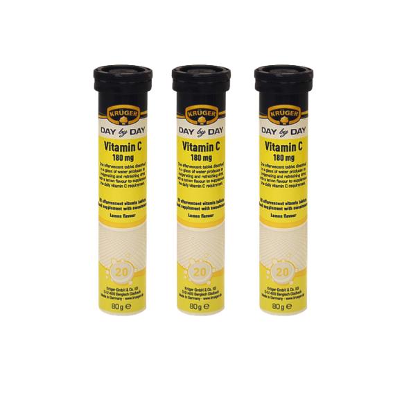 Kruger Vitamin C (Pack of 3) 180mg Exp. 10/06/22