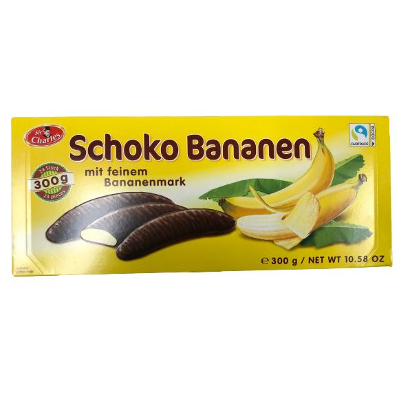 Marshmallow with Banana Flavor and Chocolate Glacing, Schoko Bananen 300g