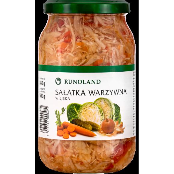 Cabbage and Vegetable Salad,Wiejska Runoland 840g