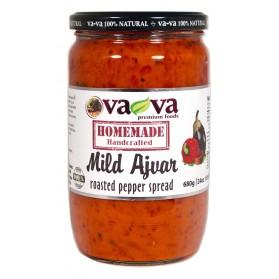 Roasted Pepper Spread Mild Ajvar Homemade Handcrafted Vava 680g