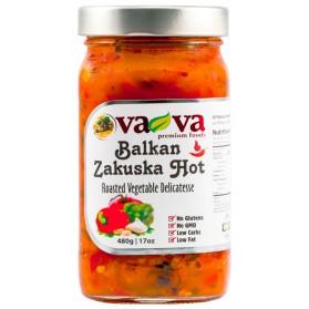 Balkan Zakuska Hot, Roasted Vegetable Delicatesse Vava 480g