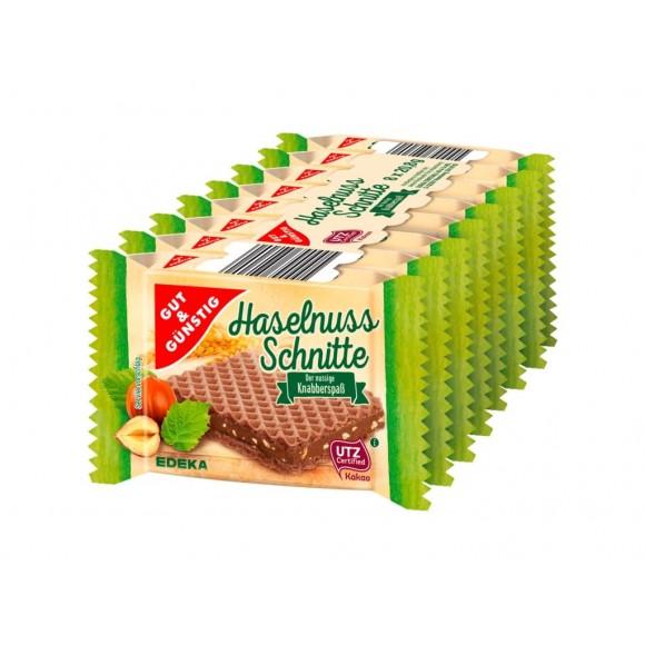 Gut & Gunstig Hazelnut Wafer, Haselnuss Schnitte, 8 pc.