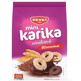 Mini Karika Vanilla Flavoured Rings Semi-Covered with Cocoa 150g