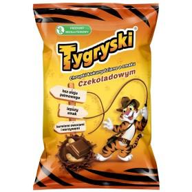 Chocolate Flavored Corn Puffs, Tygryski 70g