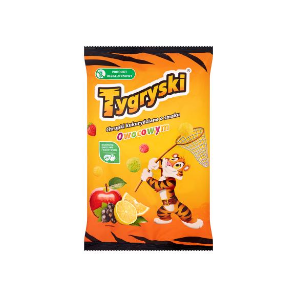 Fruit Flavored Corn Puffs, Tygryski 70g