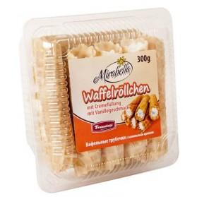 Wafer Rolls with Vanilla Filling, Mirbella Waffelrollchen 300g