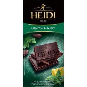 Dark Chocolate with Lemon and Mint, Heidi 80g