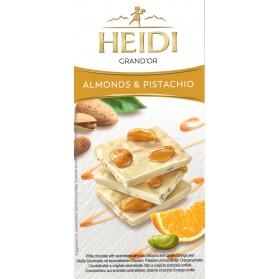 White Chocolate with Almonds & Pistachio, Heidi 100g
