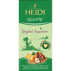 Hazelnut Inspiration, Milk Chocolate with Hazelnuts and Biscuits, Heidi 80g