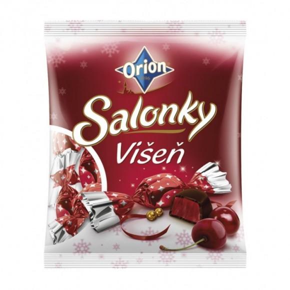 Christmas chocolates with cherry flavour Salonky Višeň 380g