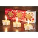 Christmas Stars (three candles)