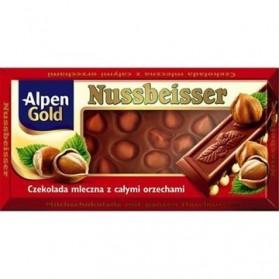 Alpen Gold Nussbeisser Milk Chocolate with Whole Hazelnuts 100g / 3.53oz