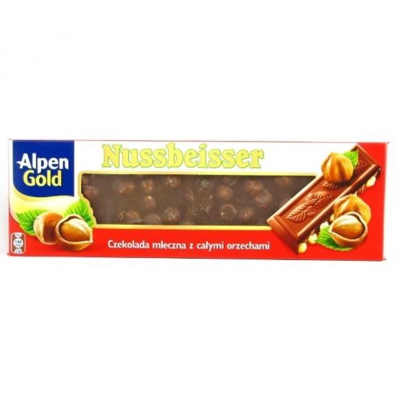 Alpen Gold Nussbeisser Milk Chocolate with Whole Hazelnuts 220g / 7.76oz
