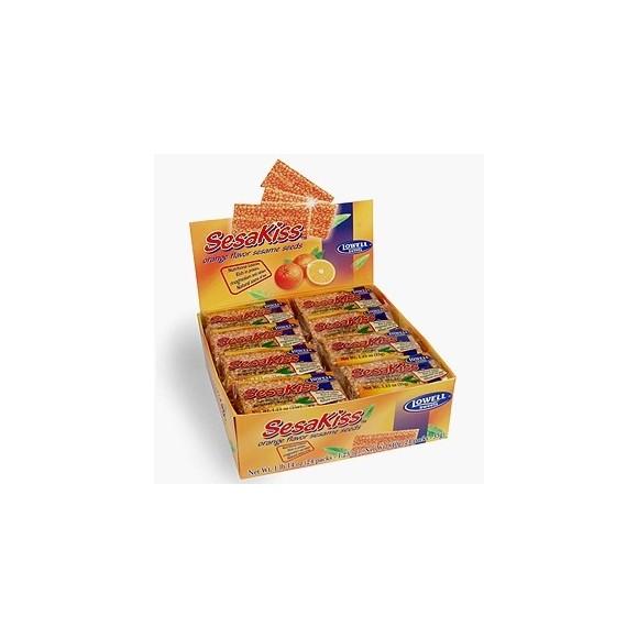 Sesakiss Sesame Seed Bars w/ Orange Each: 30g / 1.06oz - Pack of 24