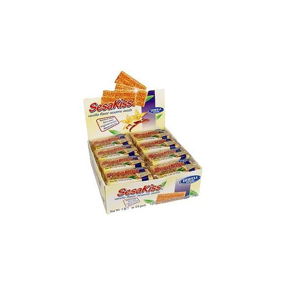 Sesakiss Sesame Seed Bars w/ Vanilla Each: 30g / 1.06oz (Pack of 24)