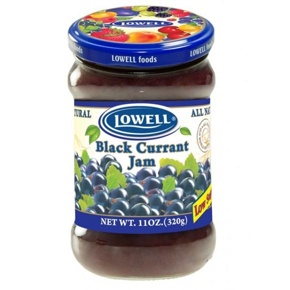 Lowell Black Currant Jam Low Sugar 320g / 11.29oz