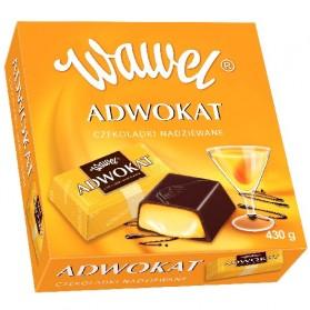 Wawel Advocaat Filled Chocolates / Adwokat Czekolatki Nadziewane 430g.