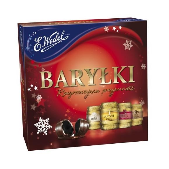 E.Wedel Happy Barreles with Alcohol / Bryłki w Deserowej Czekoladzie 200g.