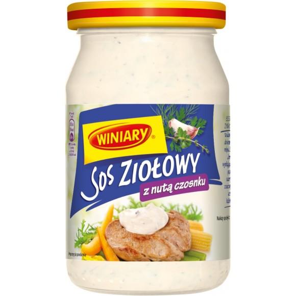 Winiary Mayonnaise Herb Sauce with a hint of Garlic/Sos Ziołowy 250ml/8.82fl oz