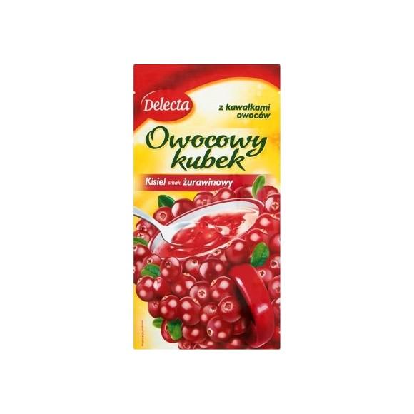 Delecta Cranberry Jelly Fruit Cup / Kisiel Żurawinowy z Kawałkami Owoców 30g./1.06oz