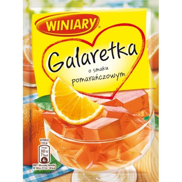 Winiary Orange Jelly Flavor / Galaretka Pomarańczowa 75g/2.65oz