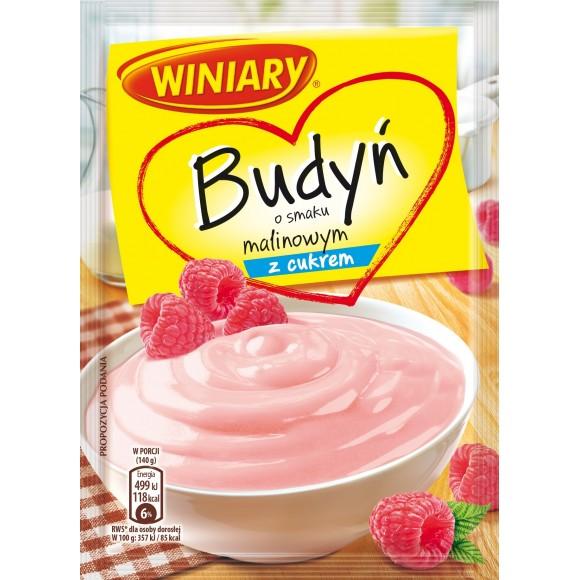 Winiary Pudding Raspberry Sugar / Budyń o Smaku Malinowym z Cukrem 60g/2.12oz.