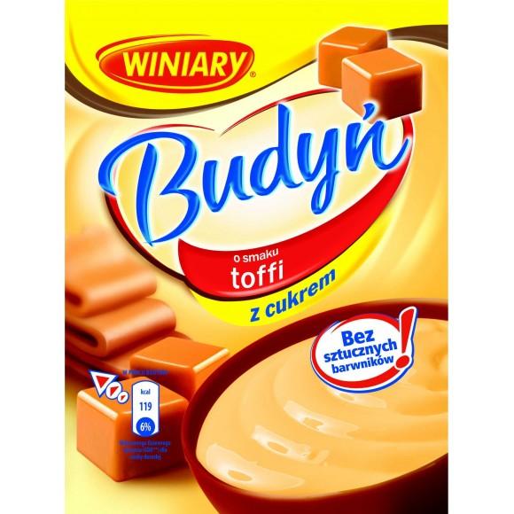 Winiary Pudding Toffee Sugar / Budyń o Smaku Toffi z Cukrem 60g/2.12oz
