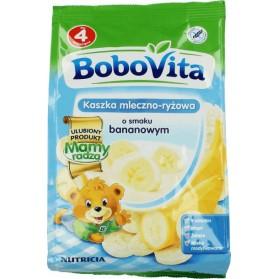 Bobovita Milk and Rice-Corn porridge Mixed Banana/Kaszka Mleczno-Ryżowa o smaku Bananowym 230g/8.11oz