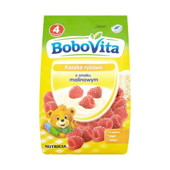 Bobovita Rice Gruel with Raspberry Flavor/Kaszka Ryżowa o smaku Malinowym 180g/6.35oz.