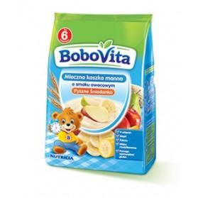 Bobovita Instant Semolina with Strawberry ,Bananas and Peach for Babies/Mleczna Kaszka manna o smaku Owocowym 180g/6.35oz