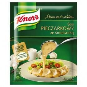 Knorr Sauce with Cream of Mushroom/Sos Pieczarkowy ze Śmietanką 38g