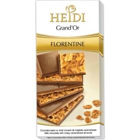 Heidi Grand' Or Florentine Milk Chocolate Bar 100g./3.53oz.