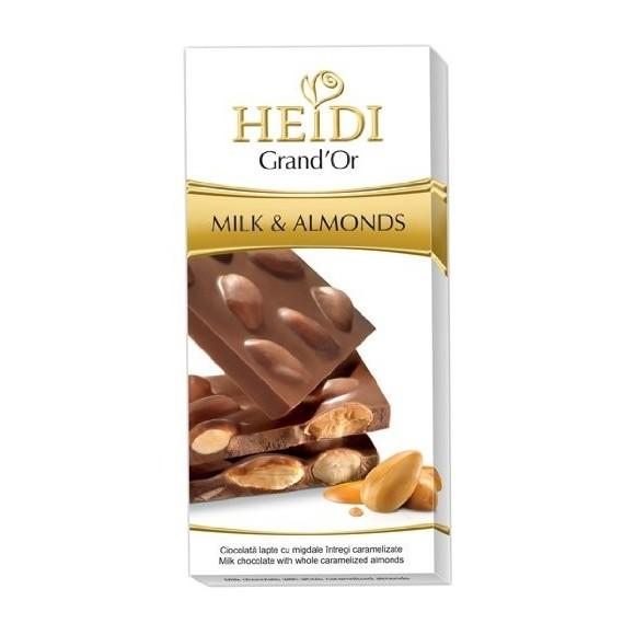 Heidi Grand' Or Whole Almond Milk Chocolate Bar 100g./3.53oz.