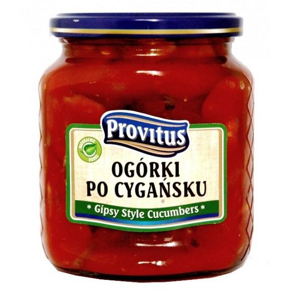 Provitus Gypsy Style Cucumbers / Ogórki po Cygańsku 480g