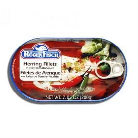 Rugen Fisch Herring Fillets in Hot Tomato Sauce 200g/7.05oz
