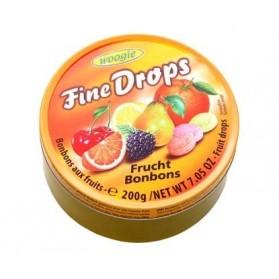 Woogie Fine Drops Fruit Mix Candies 200g/7.05oz (W)