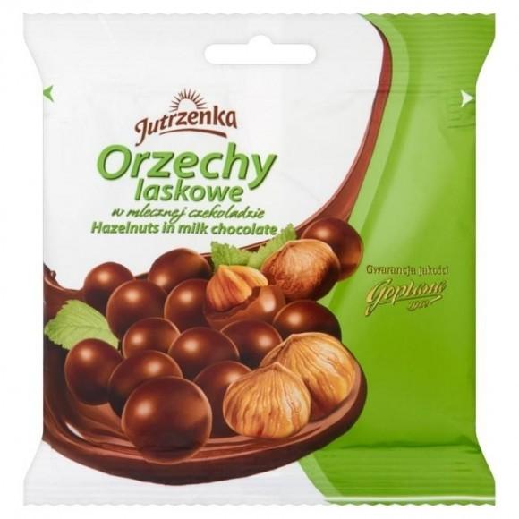 Jutrzena Hazelnuts in Milk Chocolate 80g/2.82oz (W)