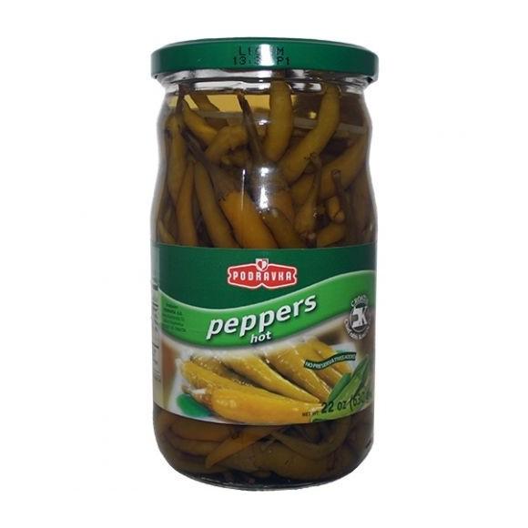 Podravka Peppers Hot 630g/22oz (W)