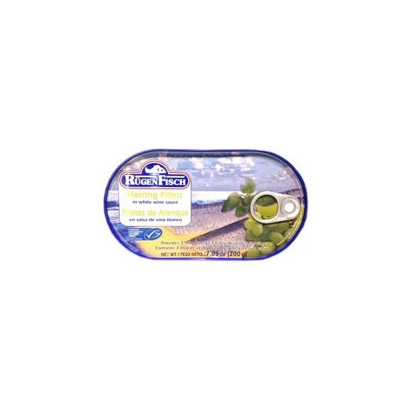 Rugen Fisch Herring Fillets in White Wine Sauce 200g/7.05oz (W)