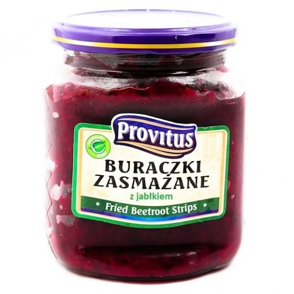 Provitus Fried Beetroot Strips with Apples / Buraczki Zasmażane z Jabłkami 480g/16.9oz (W)
